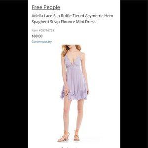 Adella Lace Slip Tiered Asymetric Hem Mini Dress